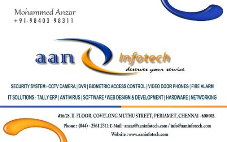 Anzar - Business Card