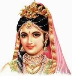 திரௌபதியின் காலணி (செருப்பு)களை தனது கைகளில் ஏந்திய ஸ்ரீ கிருஷ்ணர்